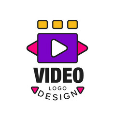 Colorful video logo template creative design with vector
