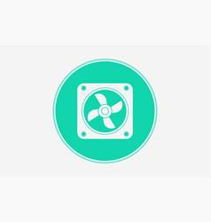 cpu fan icon sign symbol vector image