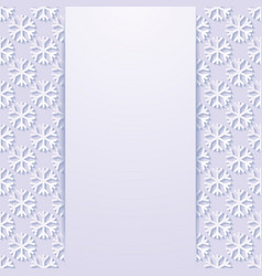 decorative background with snowflakes vector image
