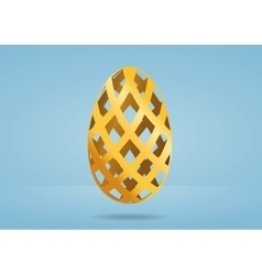 Decorative golden egg vector image
