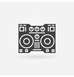 Digital DJ controller icon vector image