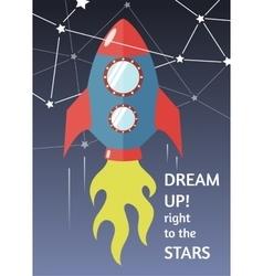 Dream up to the stars vector