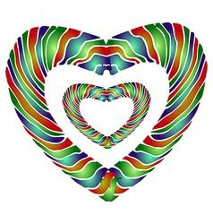 Enamel heart vector image