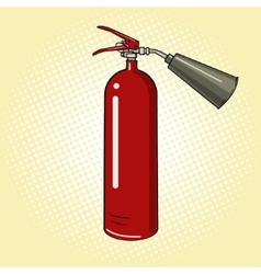 Fire extinguisher comic book vector