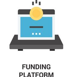 Funding platform icon concept vector