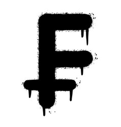 Graffiti franc sign sprayed isolated on white vector