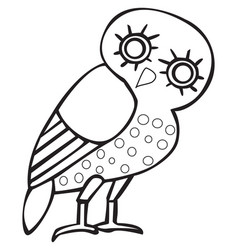 Greek owl sign symbol vector