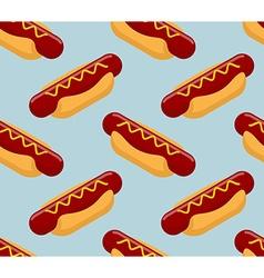 Hot dog isometrics background Fast food seamless vector image