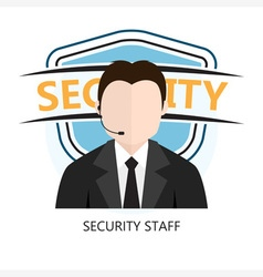 Icon of Security Staff vector