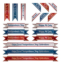 independence day ribbons vector image