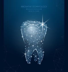 Innovative stomatology composition vector