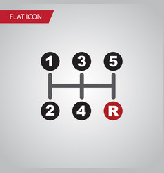 Isolated manual transmission flat icon carrying vector