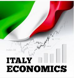 italy economics with italian vector image