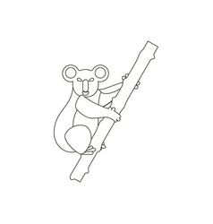 koala bear coloring pages vector image