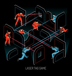 laser tag isometric composition vector image
