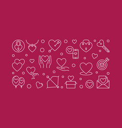 love creative outline vector image