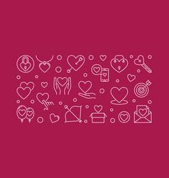 Love creative outline vector