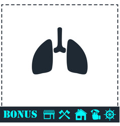 lungs icon flat vector image