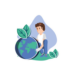 Man avatar with planet design vector