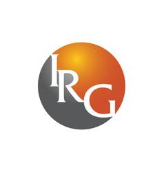 Modern logo solution letter i r g vector
