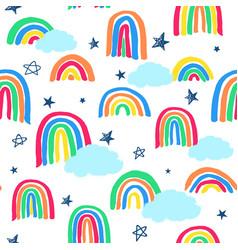 Neon rainbow allover vector