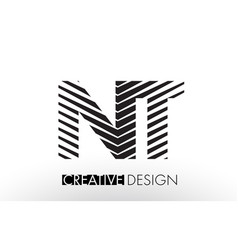 nt n t lines letter design with creative elegant vector image