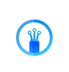 optical fibre bandwidth icon vector image