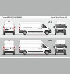 Peugeot boxer cargo delivery van l3 2014-2019 vector