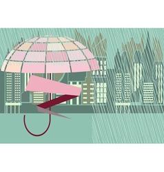 Rain storm street vector