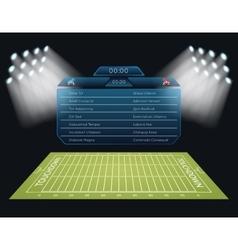 Realistic american football field vector