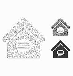 Realty message mesh 2d model and triangle vector