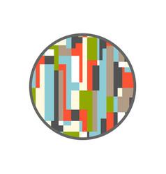 rectangular abstract circle design vector image