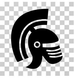 Rome helmet icon vector