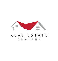 Roofing logo design template vector