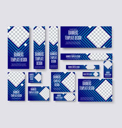 set web banners standard size with a square vector image