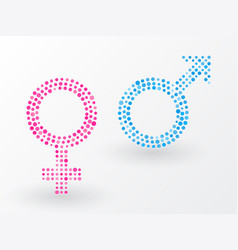sex symbols made up of small dots vector image