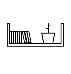 shelf icon vector image