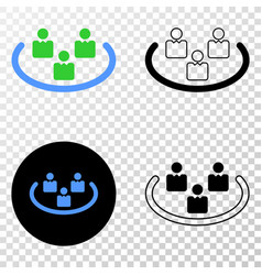 social ring eps icon with contour version vector image