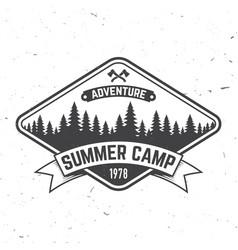 Summer camp concept vector
