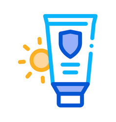 sunscreen icon outline vector image