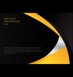 template abstract yellow and black contrast vector image