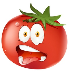 Tomato with facial expression vector image