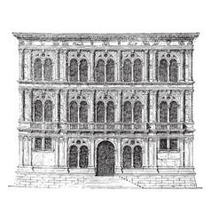 Vendramin palace at venice freedom of vector
