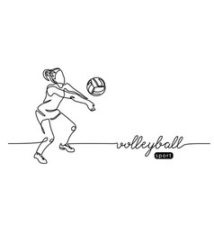Volleyball player girl woman abstract vector