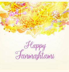 watercolor card with mandal vector image