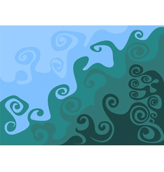 Wave pattern abstract background vector image