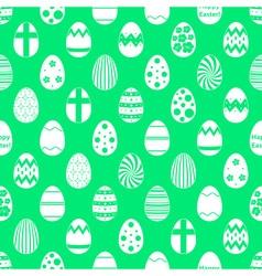 white Easter eggs design seamless green pattern vector image