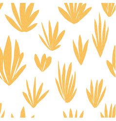 yellow tropical plant succulent seamless pattern vector image