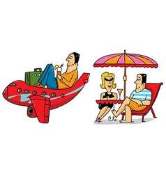 2 Vacation scenes vector image vector image