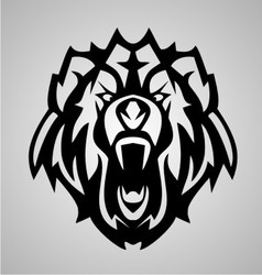 Bear Face Tribal vector image